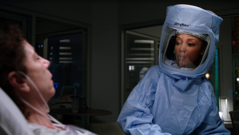Stryker Personal Protection Equipment Worn by Doctors in Chicago Med S06E11 TV Show 2021 (2)