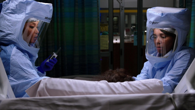 Stryker Personal Protection Equipment Worn by Doctors in Chicago Med S06E11 TV Show 2021 (4)