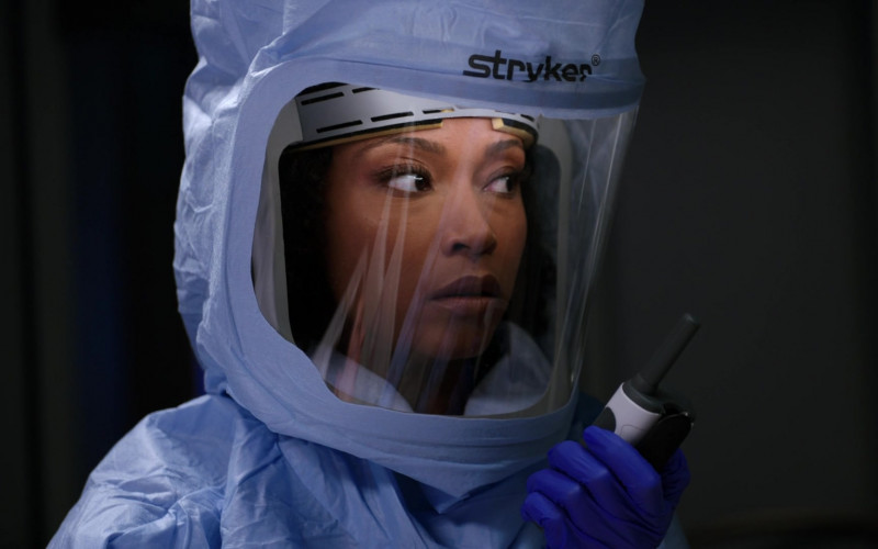 Stryker Personal Protection Equipment Worn by Doctors in Chicago Med S06E11 TV Show 2021 (5)