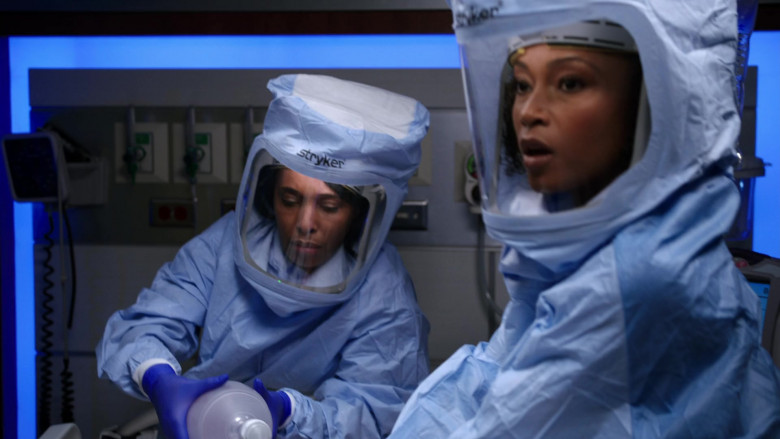 Stryker Personal Protection Equipment Worn by Doctors in Chicago Med S06E11 TV Show 2021 (6)