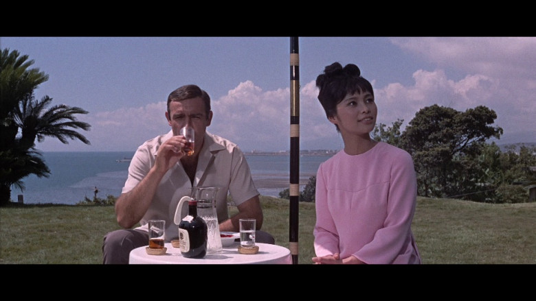 Suntory Whisky Enjoyed by Sean Connery as James Bond, an MI6 agent in You Only Live Twice (1967)
