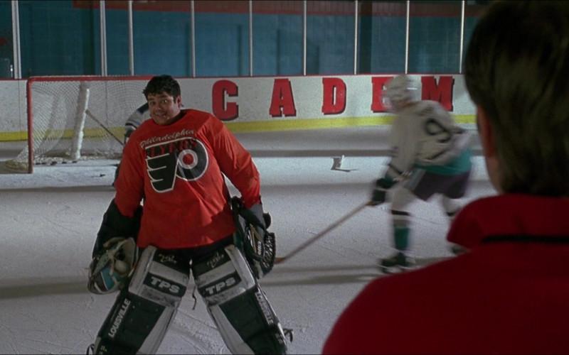 TPS Louisville Hockey Goalie Leg Pads of Shaun Weiss as Greg in D3 The Mighty Ducks (1996)