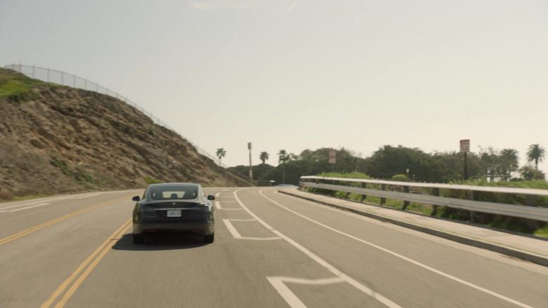 Tesla Model s75d Car of John Stamos as Marvyn Korn in Big Shot S01E03 TV Show 2021 (2)