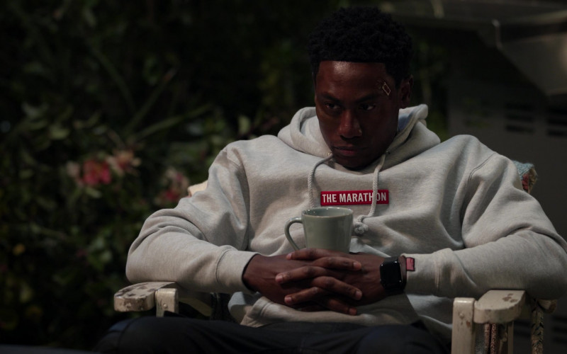 The Marathon Hoodie of J. Alex Brinson as Luke Watkins in All Rise S02E12 Chasing Waterfalls (2021)