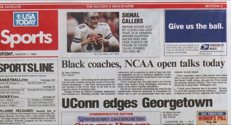 USA Today Newspaper in D2 The Mighty Ducks (1994)
