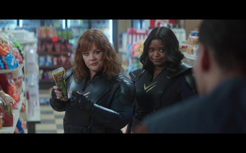 Van Holten's Pickles Held by Melissa McCarthy as Lydia Berman in Thunder Force (2021)