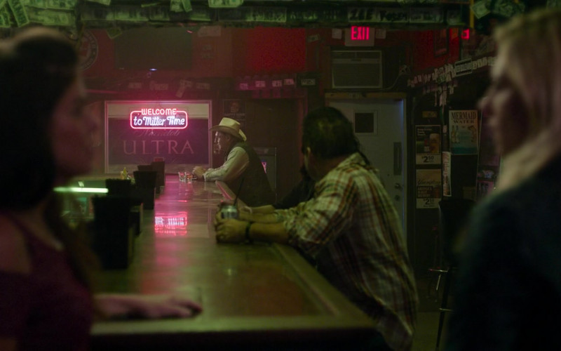 Welcome To Miller Time Sign and Michelob Ultra in The Marksman (2021)