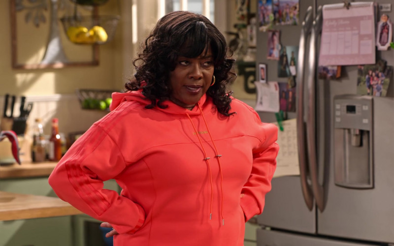 adidas x IVY PARK Orange Hoodie and Pants of Loretta Devine as M'Dear in Family Reunion S03E08 (1)