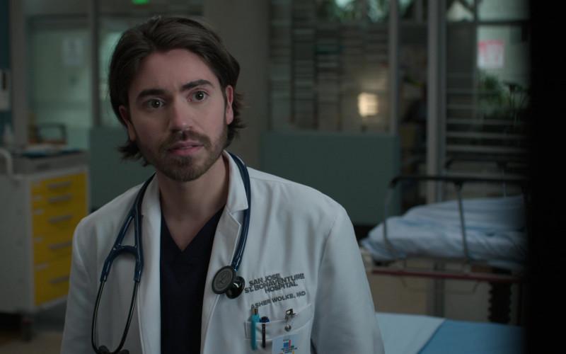 3M Littmann Stethoscopes of Noah Galvin as Dr. Asher Wolke in The Good Doctor S04E16