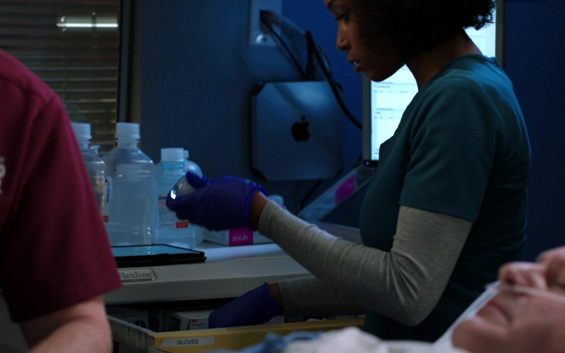 Apple Mac Mini Computer on the Wall in Chicago Med S06E13 What a Tangled Web We Weave (2021)