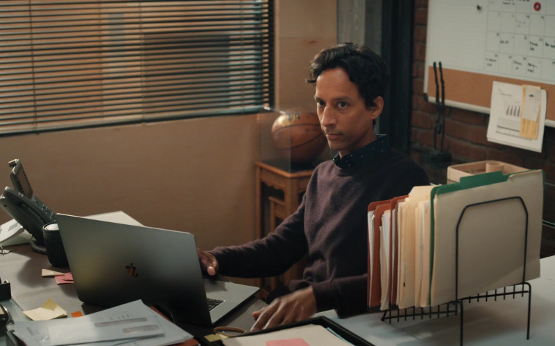 Apple MacBook Laptop of Danny Pudi as Brad Bakshi in Mythic Quest Raven's Banquet S02E02 Grouchy Goat (2021)