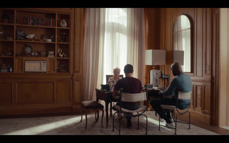 Apple iMac Computer of Jean Smart as Deborah Vance and Adidas Men's Sneakers in Hacks S01E02 Primm (2021)