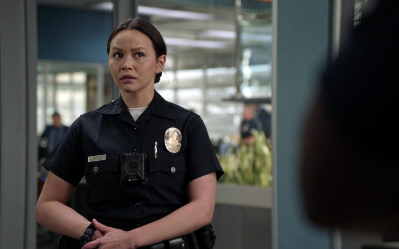 Axon Body Camera of Melissa O'Neil as Lucy Chen in The Rookie S03E13 Triple Duty (2021)