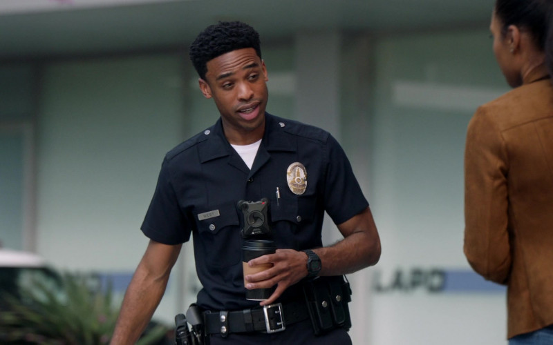 Axon Body Camera of Titus Makin Jr. as Jackson West in The Rookie S03E13 TV Show 2021 (1)