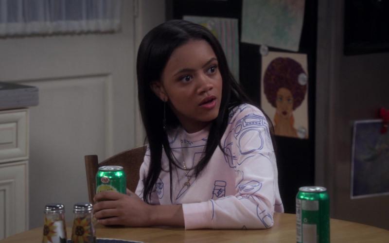 Big K Lemon Lime Soda Enjoyed by Khali Spraggins as Aaliyah in The Upshaws S01E04 Big Plans (2021)