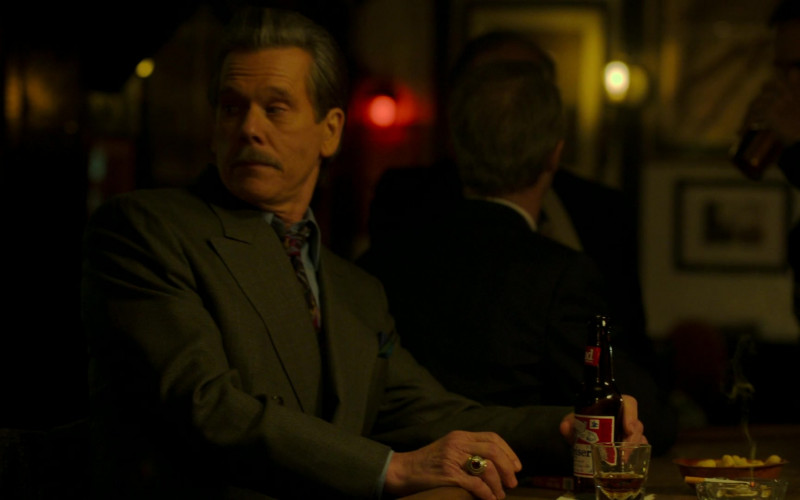 Budweiser Beer of Kevin Bacon as John 'Jackie' Rohr in City on a Hill S02E08 Pax Bostonia (2021)