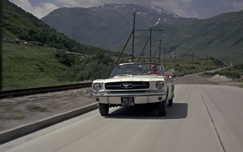 Ford Mustang Convertible Car in Goldfinger (1964)