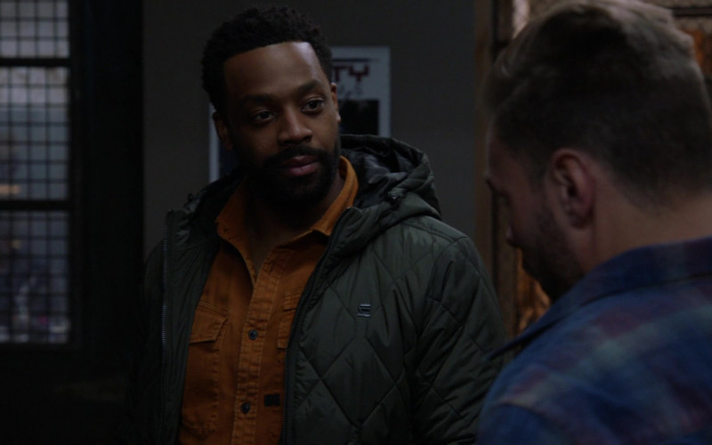 G-Star RAW Jacket Worn by LaRoyce Hawkins as Officer Kevin Atwater in Chicago P.D. S08E15 The Right Thing (2021)