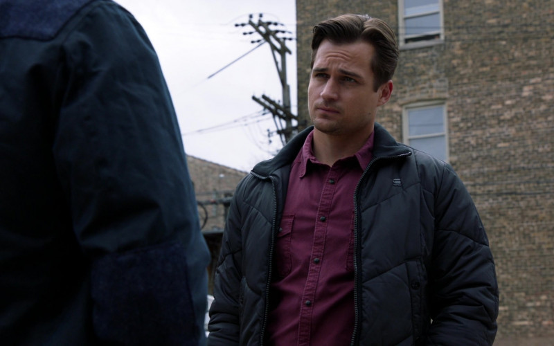G-Star RAW Jacket of Jon-Michael Ecker as Greg Grainger in Chicago Fire S09E13 TV Show 2021 (1)