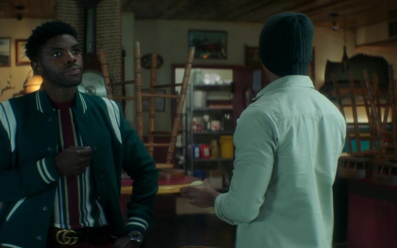 Gucci Belt of Tian Richards as Tom Swift in Nancy Drew S02E15 The Celestial Visitor (2021)