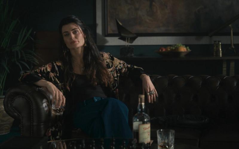 Johnny Drum Kentucky Straight Bourbon Whiskey Enjoyed by Lyne Renée as Kirsty in Wrath of Man (2021)