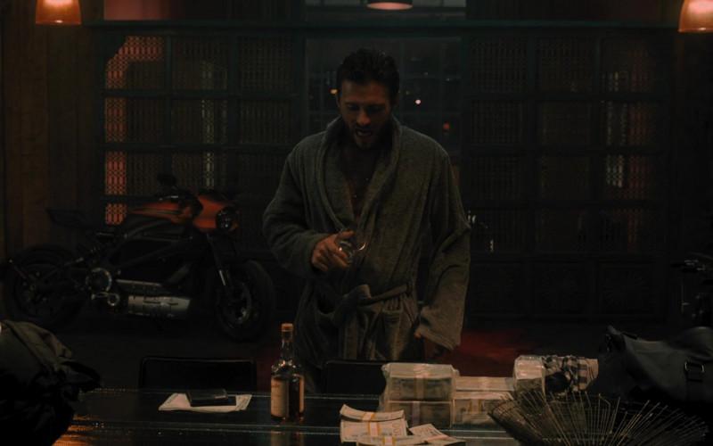 Johnny Drum Kentucky Straight Bourbon Whiskey Enjoyed by Scott Eastwood as Jan in Wrath of Man (2021)