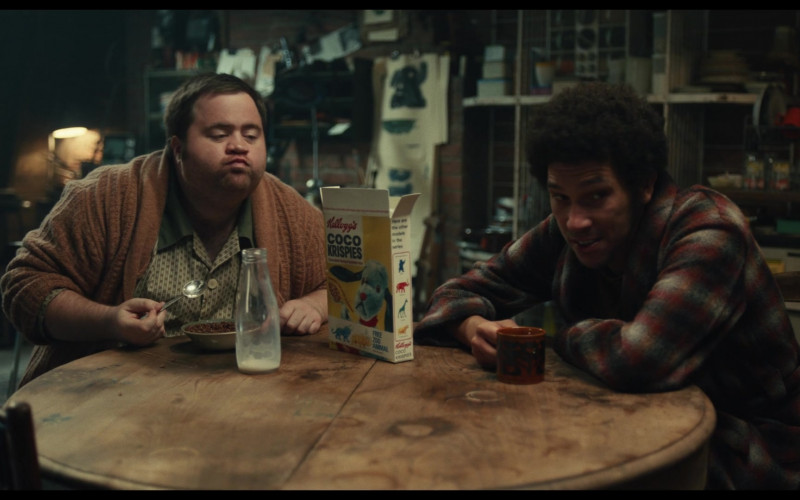 Kellogg's Cocoa Krispies Cereal Enjoyed by Paul Walter Hauser as Horace Badun in Cruella (2021)