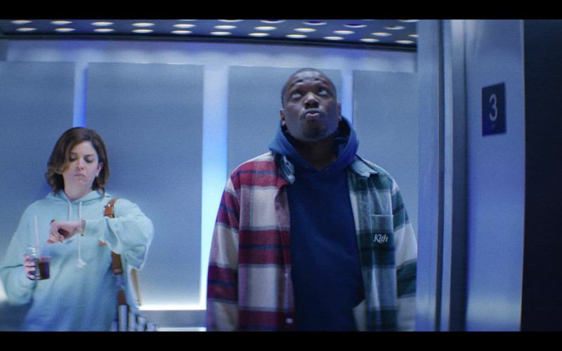 Kith Plaid Shirt Jacket in That Damn Michael Che S01E01 Policin' (2021)