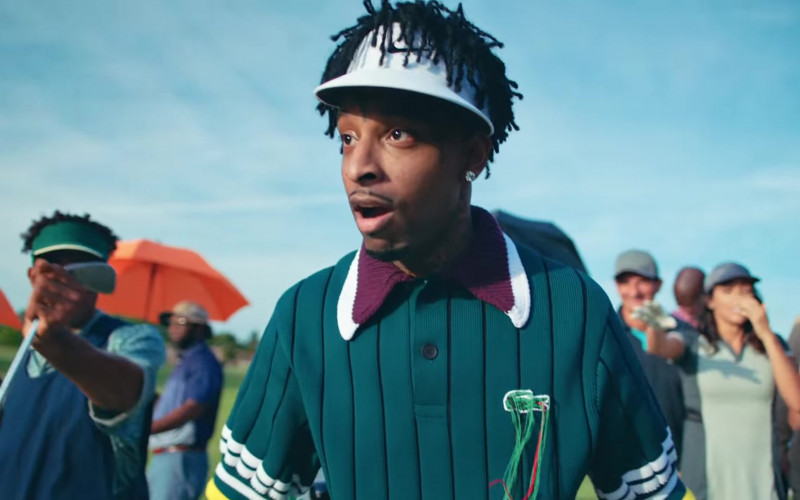 Lacoste Shirt of 21 Savage in LET IT GO (4)