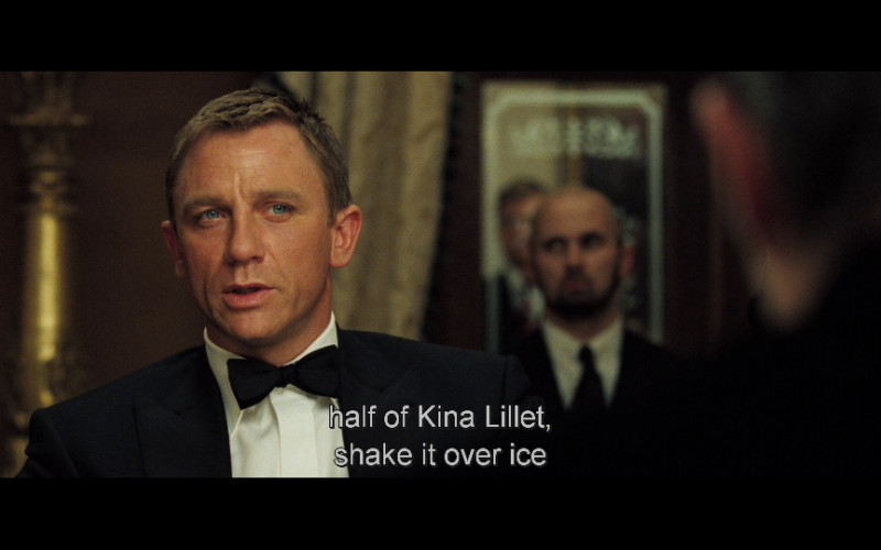Lillet French Aperitif Wine in Casino Royale (2006)