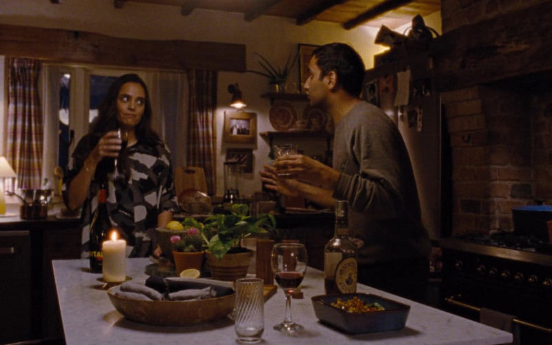 Michter's Bourbon Whiskey Enjoyed by Aziz Ansari as Dev Shah in Master of None S03E01 Moments in Love, Chapter 1 (2021)