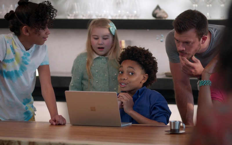 Microsoft Surface Laptop Used by JeCobi Swain as Kelvin in Home Economics S01E05 TV Show 2021 (2)