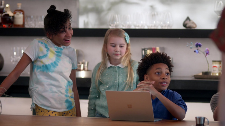 Microsoft Surface Laptop Used by JeCobi Swain as Kelvin in Home Economics S01E05 TV Show 2021 (4)