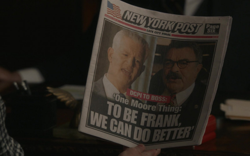 New York Post Newspaper in Blue Bloods S11E14 The New You (2021)