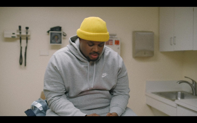 Nike Men's Grey Hoodie in That Damn Michael Che S01E06 Only Built 4 Leather Suits (2021)
