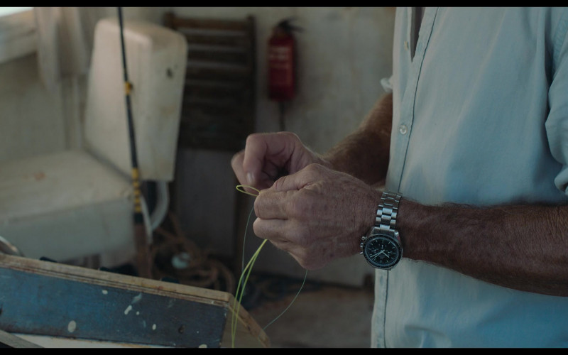 Omega Speedmaster Watch of Dennis Quaid as Wade in Blue Miracle 2021 Movie (3)