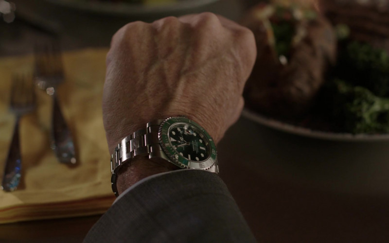 Rolex Men's Watch of Grant Show as Blake Carrington in Dynasty S04E01 That Unfortunate Dinner (2021)
