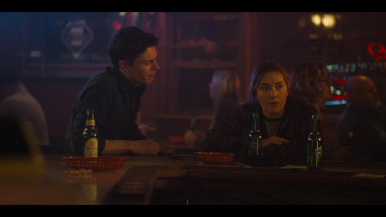 Rolling Rock Beer of Kate Winslet as Detective Sergeant Mare Sheehan in Mare of Easttown S01E03 Enter Number Two (2021)