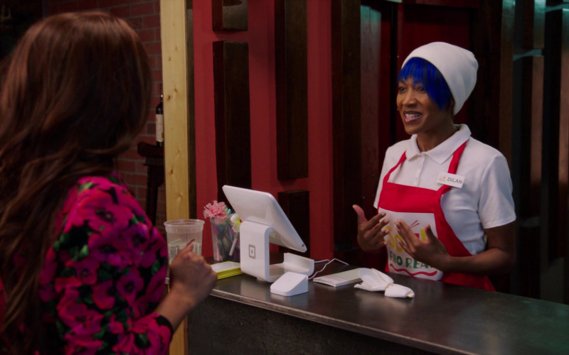 Square Point of Sale (POS) System in A Black Lady Sketch Show S02E03 Sister, May I Call You Oshun (2021)