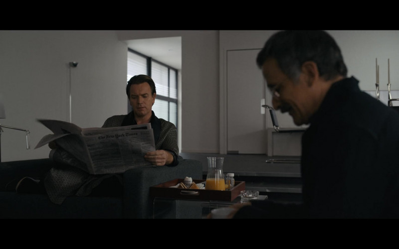 The New York Times Newspaper Held by Ewan McGregor as Halston in Halston E04 The Party's Over (2021)