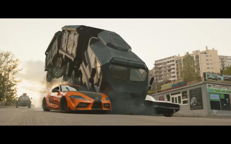 Toyota Supra Orange Sports Car in F9 Fast & Furious 9 (2021)