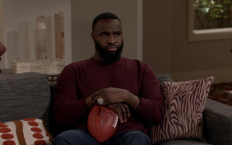 Wilson NFL Football of Terrence Terrell as Eli in B Positive S01E18 Life Expectancy (2021)