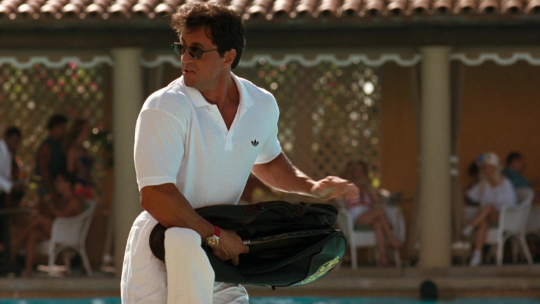 Adidas White Polo Shirt Worn by Sylvester Stallone as Captain Ray Quick in The Specialist 1994 Movie (1)
