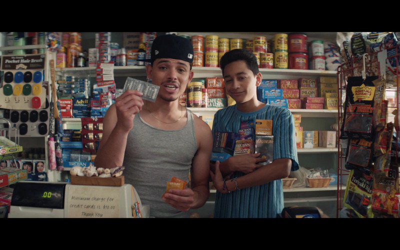 Advil, Cafe Bustelo, Cafe El Coqui, Trojan, Magnum, Ajay's Montana Bananas in In the Heights (2021)