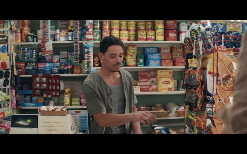 Advil, Trojan, Café Pilon, Cafe Caribe, Le Coqui, Luzianne Tea, Lipton in In the Heights (2021)