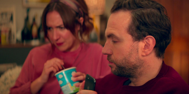 Apple iPhone Smartphone of Rafe Spall as Jason Ross in Trying S02E05 Maddest Sweetest Thing (2021)