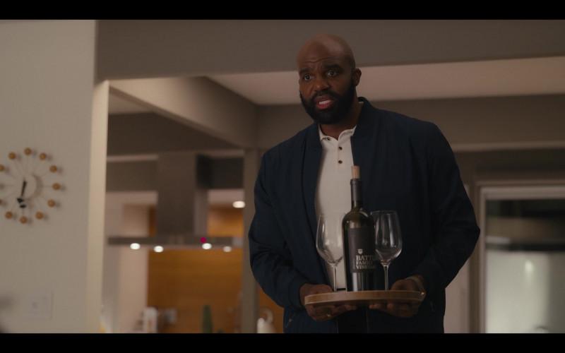 Battle Family Vineyards Wine Bottle Held by Carl Clemons-Hopkins as Marcus in Hacks S01E08 1.69 Million (2021)