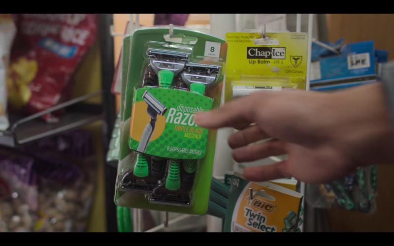 Chap-Ice Lip Balm and BIC Men's Shaving Razors in Love, Victor S02E04 The Sex Cabin (2021)