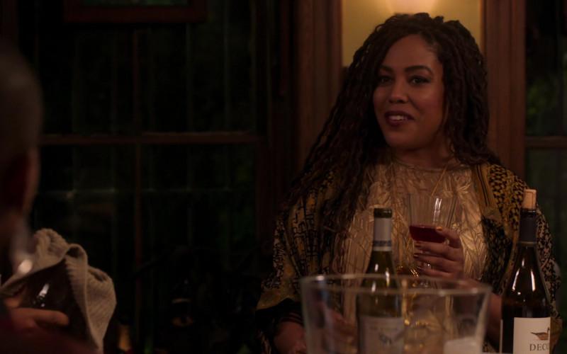 Decoy Wine Bottle in Run The World S01E05 Plus Ones (2021)