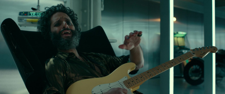 Fender Guitar Held by Jason Mantzoukas in Infinite (2021)